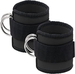 Startostar Ankle Straps 2 Pack for Cable Machine Workouts with Durable Cuffs for Ab, Leg & Butt Weight Exercises Men & Women Fitness