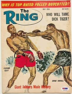 Muhammad Ali Signed Cassius Clay Ring Magazine May 66 4A54046 Grade 10 - PSA/DNA Certified - Autographed Boxing Magazines