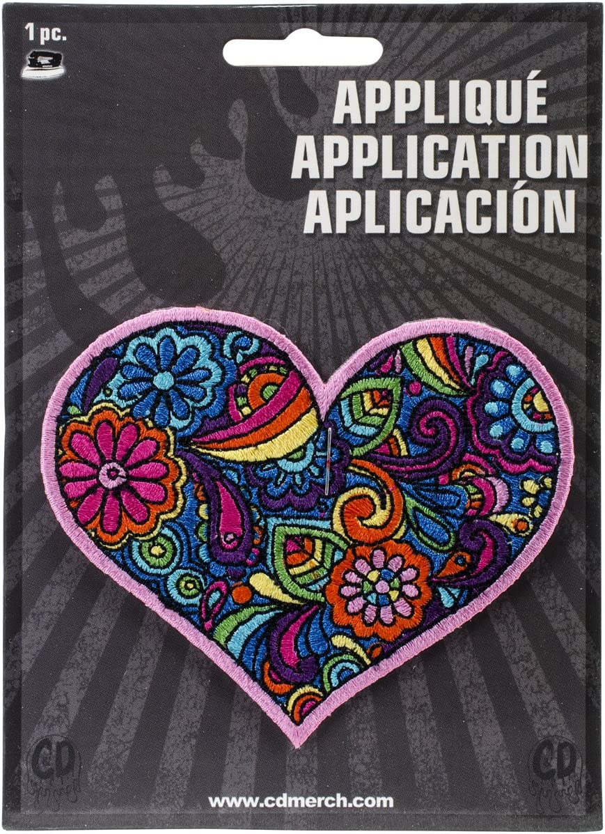CD Our shop most popular Visionary Application DSX lowest price Love Heart Paisley Patch