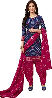 Jevi Prints Women's Cotton Printed Straight Stitched Salwar Suit Set (ND-1929)