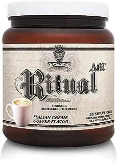 Ambrosia Ritual AM - Morning Biohacking Theorem | Keto Coffee Drink with MCT Oil - GoBHB Ketones - Velositol | Brain & Body Energy (Italian Creme Coffee, 30 Servings)