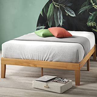 Zinus Frame 14 Inch Platform Bed/No Boxspring Needed/Wood Slat Support/Natural Finish, Queen