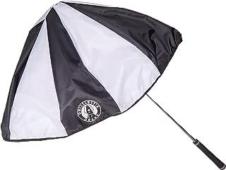 Drizzle Stik DDS030 Drape - Golf Club Umbrella, Black/White Alternating Panel