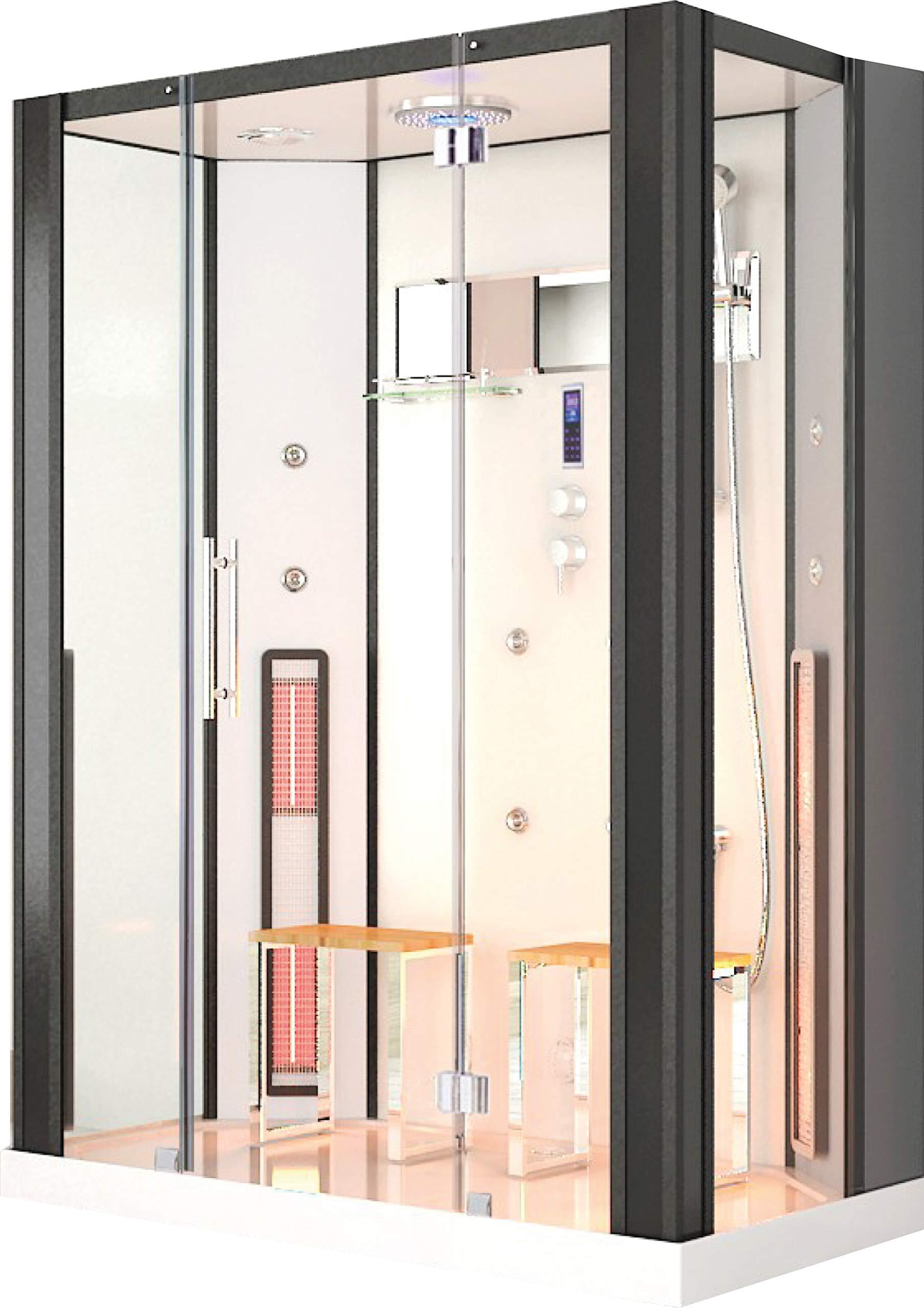 Ducha de vapor por infrarrojos Naxos, baño de vapor, cabina de calor, ducha de vapor, sauna de infrarrojos, cabina de calor por infrarrojos.: Amazon.es: Bricolaje y herramientas