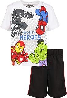 ست آستین کوتاه و شلوارک مش مارول Avengers Boys Superhero