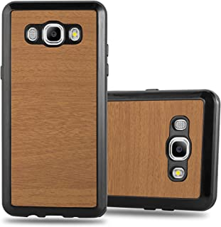 Cadorabo Case works with Samsung Galaxy J5 2016 in WOODEN BROWN - Shockproof and Scratch Resistant TPU Silicone Cover - Ul...