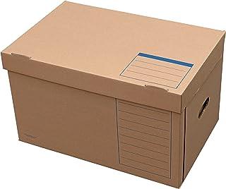 Elba 83538 Tric System Lot de 10 boîtes avec couvercle plat Marron naturel