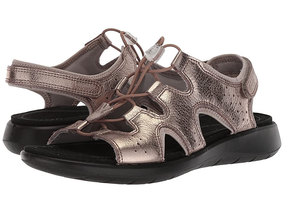 ECCO Soft 5 Toggle Sandal (Warm Grey Cow Leather/Cow Nubuck) Women's Sandals
