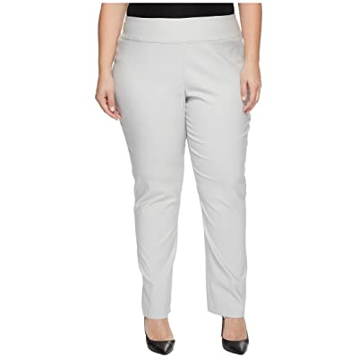 NIC+ZOE Plus Size Wonderstretch Pants (Smoke) Women