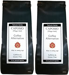 Capomo Herbal Coffee Substitute - Acid Free, Caffeine Free And Gluten Free - Natural Dark Roast - Maya Nut , - 2 Pack From...