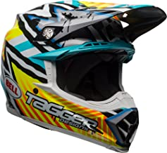 Bell Moto-9 MIPS Off-Road Motorcycle Helmet (Tagger Gloss Yellow/Blue/White Asymmetric, Medium)