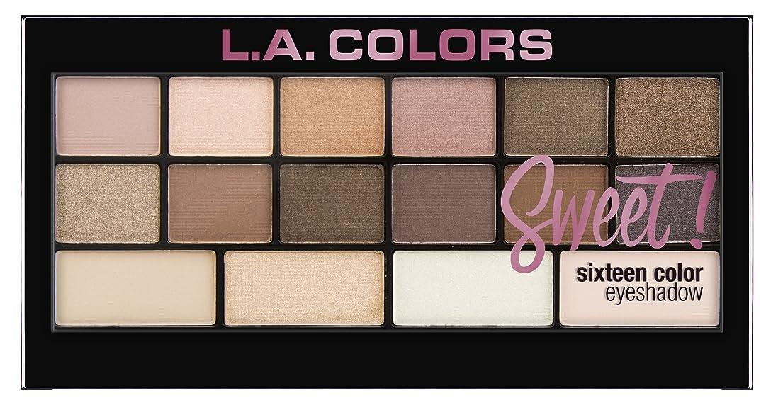 コンデンサー神聖わずかなL.A. Colors Sweet! 16 Color Eyeshadow Palette - Charming (並行輸入品)