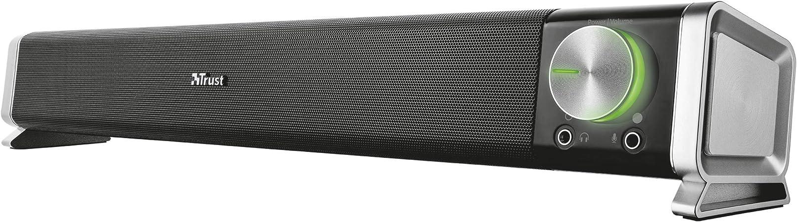 Amazon.nl-Trust Asto Soundbar Luidspreker PC TV Speakers, Zwart-aanbieding