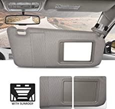 SCITOO Gray Right Passenger Side Interior Sun Visor fit for for Toyota Camry 2006-2011 Without Sunroof OE:74310-06750-B0