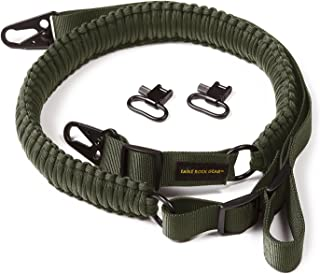 Eagle Rock Gear 550 Paracord 2 Point Gun Sling for Rifles, Shotguns, Crossbows, Airsoft, with Easy Adjustable Strap, HK Clips, Swivels, US Patent Pending