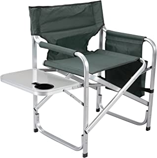 featured product Faulkner Aluminum Director Chair with Folding Tray and Cup Holder,  Green