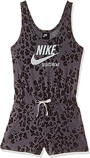 Nike Women's NSW Gym VNTG RMPR LEOPARD Jumpsuit, Black(Black/Black/Sail010), X-Large