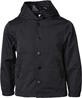 Global Blank Kids Raincoat Waterproof Hooded Windbreaker Jacket for Boys & Girls