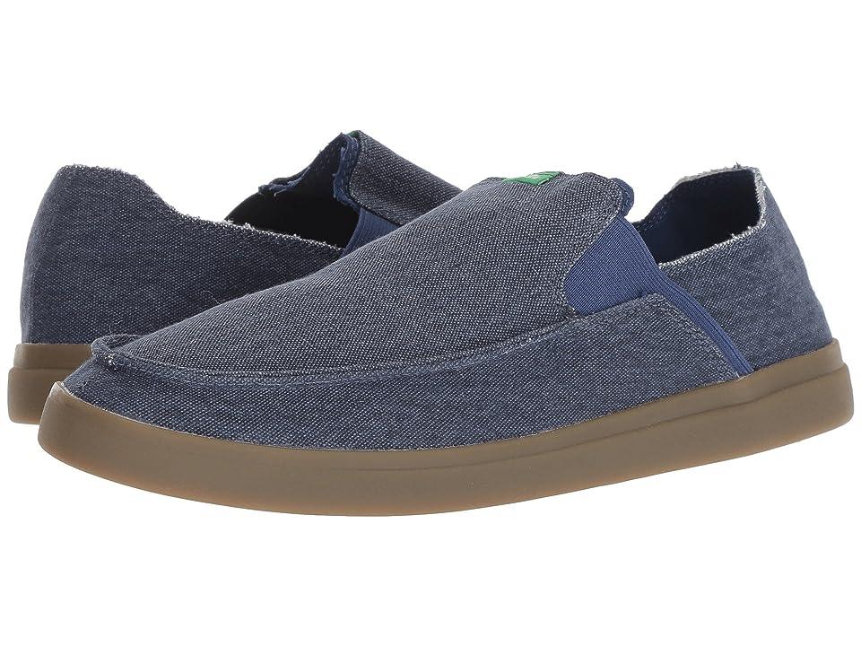 Sanuk Pick Pocket Slip-On Sneaker (Navy/Gum) Men