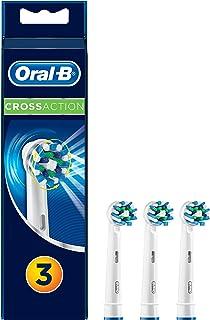 Oral-B CrossAction - Cabezal de recambio, 3 unidades, color blanco y azul, 2014