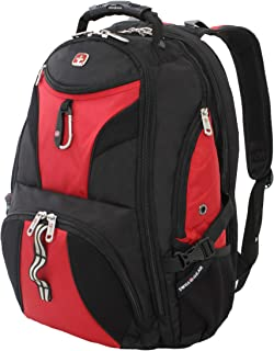 SwissGear 1900 Scansmart TSA Friendly Laptop Backpack- Red/Black