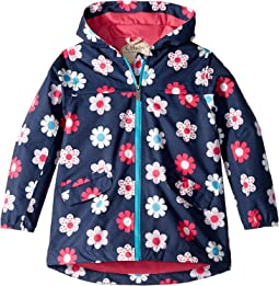 Spring Flowers Microfiber Rain Jacket (Toddler/Little Kids/Big Kids)