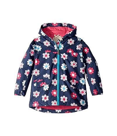 Hatley Kids Spring Flowers Microfiber Rain Jacket (Toddler/Little Kids/Big Kids) (Blue) Girl