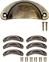 FUXXER® - 6x antieke schuifladen greep schelpen ijzeren handgrepen, meubelgrepen, greepschalen voor schuiver kastdeuren bu...