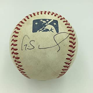 Gary Sanchez Pre Rookie Signed Game Used Official Minor League Baseball COA - JSA Certified - MLB Game Used Baseballs