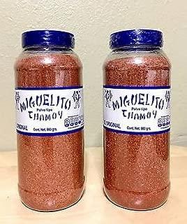 2 X Miguelito Chamoy El Original Chilito Polvo Mexican Candy Chili Powder 980g
