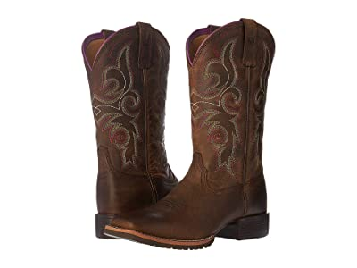 Ariat Hybrid Rancher (Distressed Brown) Cowboy Boots
