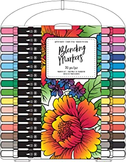 American Crafts 349999 Blending Markers, 30 Pack