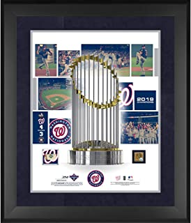 """Washington Nationals 2019 World Series Champions Framed 20"""" x 24"""" Collage with a Piece of World Series Game-Used Baseball and Dirt - Limited Edition of 250 - Fanatics Authentic Certified"""