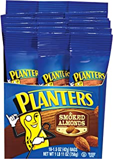 Planters Smoked & Salted Almonds Single Serve (1.5oz Bags, Pack of 18)
