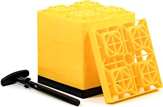 Camco FasTen 2×2 RV Leveling Block For Single Tires, Interlocking Design Allows..