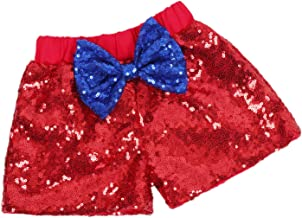 Baby Girls Shorts Sparkle Toddler Sequin Shorts Glitter on Both Sides Birthday Outfits