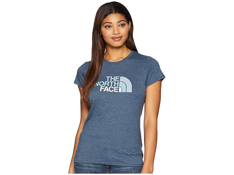 The North Face 1/2 Dome Tri-Blend Crew Tee (Blue Wing Teal Heather/Gulf Blue Multi) Women