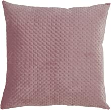 """SARO LIFESTYLE Padua Collection Pinsonic Velvet Pillow with Poly Filling, 22"""" x 22"""", Dusty Rose"""