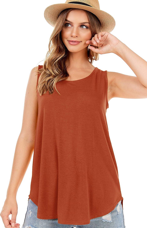 SHOP DORDOR Women's Soft Jersey Knit Scoop Neck Sleeveless Loose