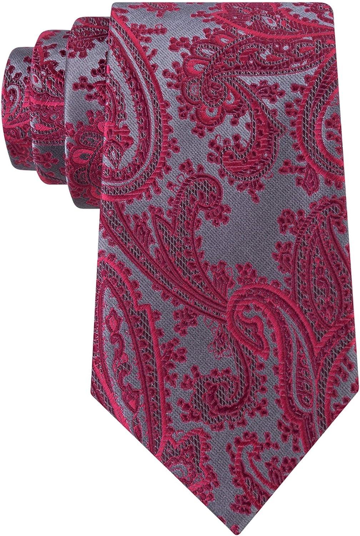 Geoffrey Beene Mens Platinum Paisley Necktie Max 65% OFF New product!! Self-Tied