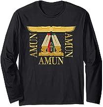 Amun Amen Ra Ancient Egypt Sun God African Egyptian Kemetic  Long Sleeve T-Shirt