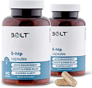 Sponsored Ad - 5-HTP 200mg Plus Calcium for Mood, Sleep, Anxiety - Boosts for Improved Serotonin Conversion - 99% High Pur...