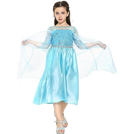 Disney Frozen 3-4 Anni Il regno di ghiaccio Ragazze Frozen Abito