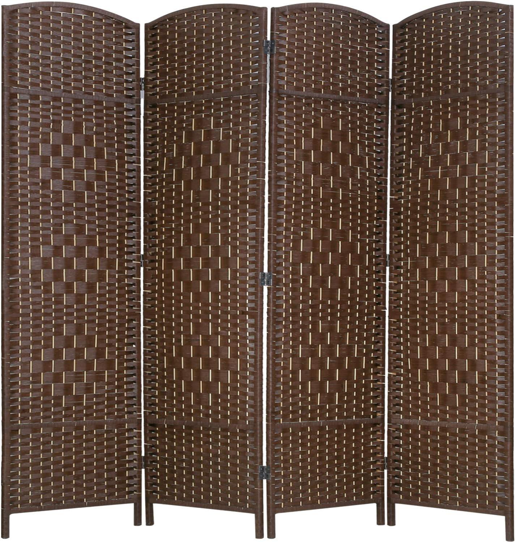 Vnewone 4 Panel 1 year warranty Room Ultra-Cheap Deals Divider 6 Fiber Tall Diamond Priv ft. Weave