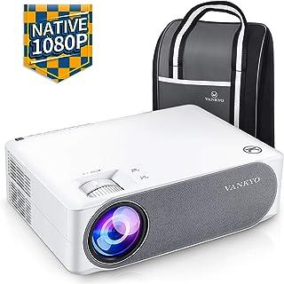 "VANKYO V630 1080PフルHDプロジェクター 6800ルーメン LED ±45°デジタル台形補正 1920×1080ネイティブ解像度 4K対応 TV Stick/HDMI/X-Box/Laptop/iPhone/ゲーム機に対応 300""大画面 ビジネス/ホームシアターに適用"