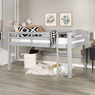 WE Furniture Loft Twin Bed, Gray