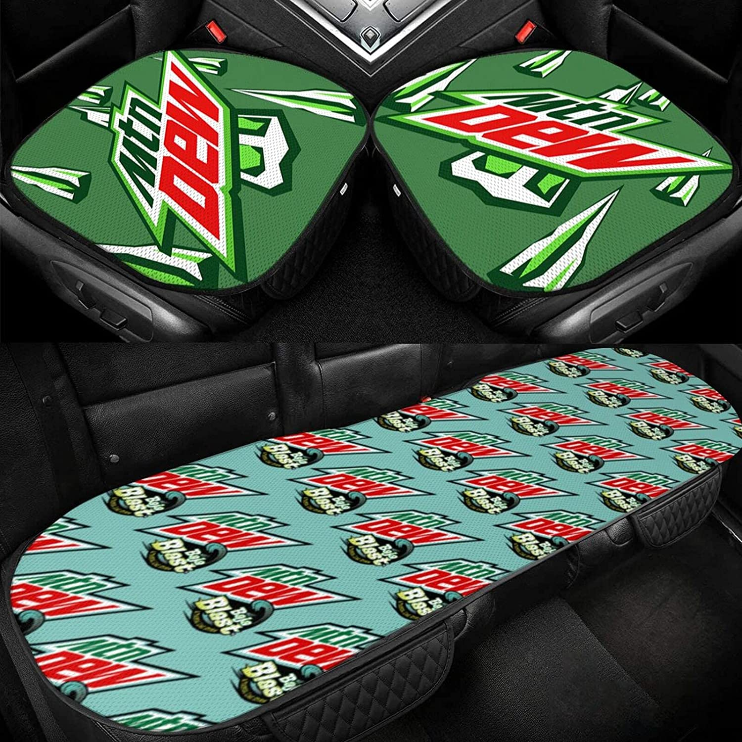 M-ountain Dew Three-Piece Set of Car Manufacturer regenerated product Cushion 3D Ice Three-D Silk Popular shop is the lowest price challenge