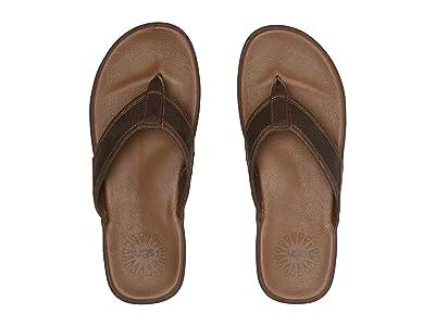 UGG Seaside Flip Leather (Luggage) Men