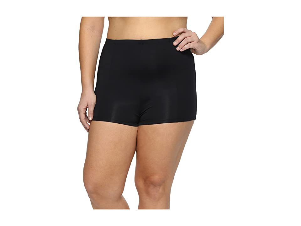 BECCA by Rebecca Virtue Plus Size Black Beauties Short (Black) Women