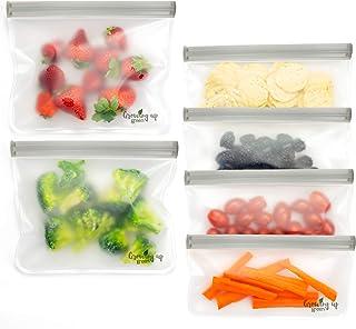 Bolsas de almuerzo reutilizables Ziploc, juego de 6/2 grandes 4 pequeñas bolsas para embalaje de la caja de almuerzo